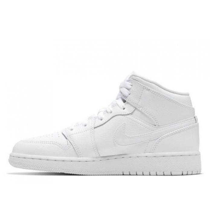 Баскетбольные кроссовки Air Jordan 1 Mid GS (554725-126)