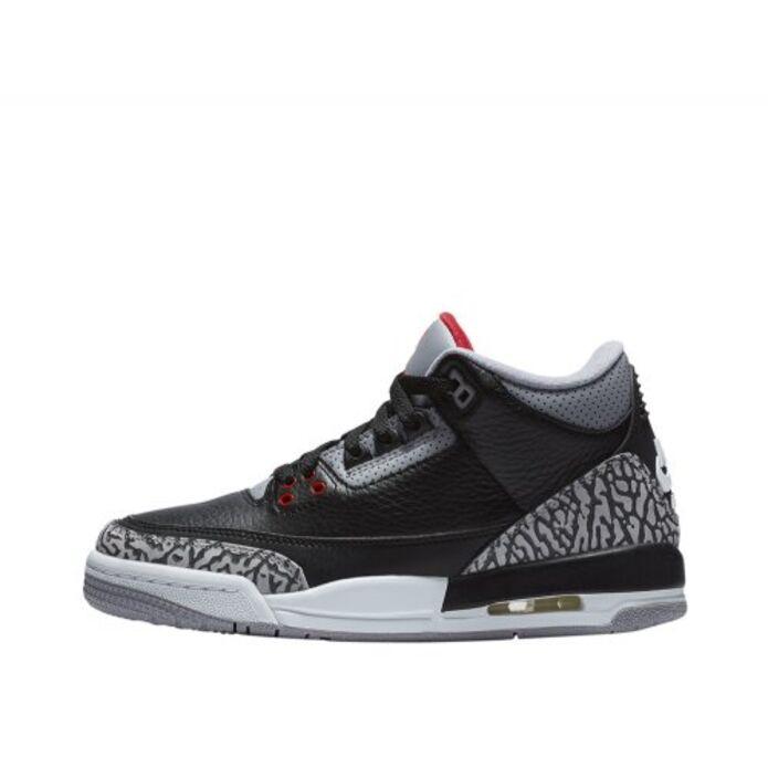 """Баскетбольные кроссовки Air Jordan 3 Retro OG (BG) """"Black Cement"""" (854261-001)"""