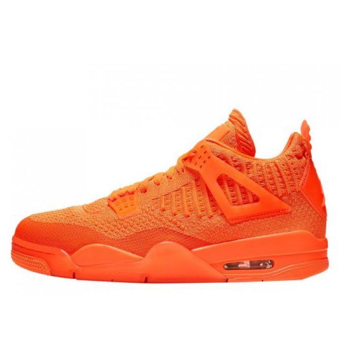 """Баскетбольные кроссовки Air Jordan 4 Retro Flyknit """"Total Orange"""" (AQ3559-800)"""