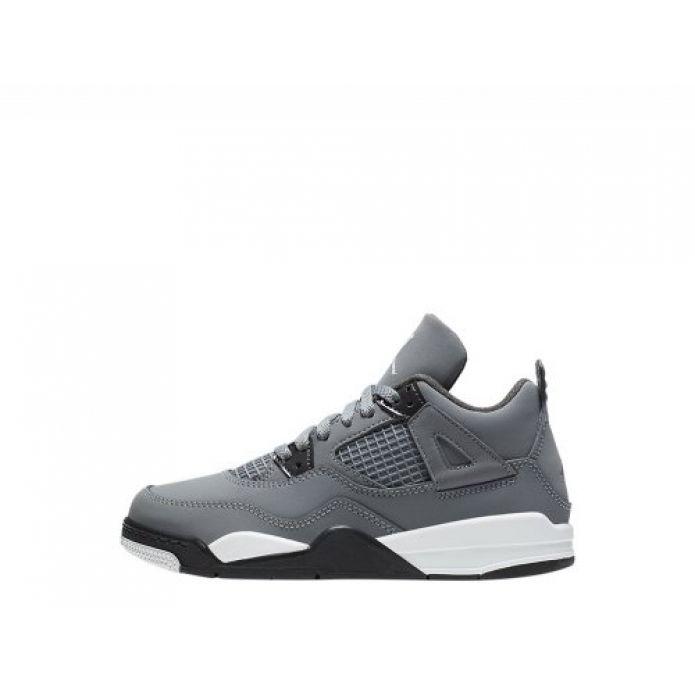 """Баскетбольные кроссовки Air Jordan 4 Retro (PS) """"Cool Grey"""" (BQ7669-007)"""