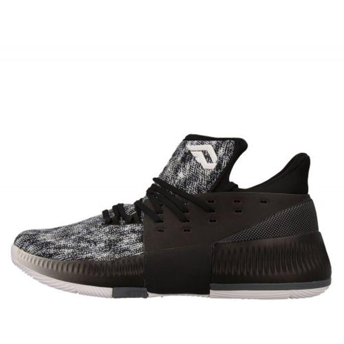 """Баскетбольные кроссовки adidas D Lillard 3 """"Black/White"""""""