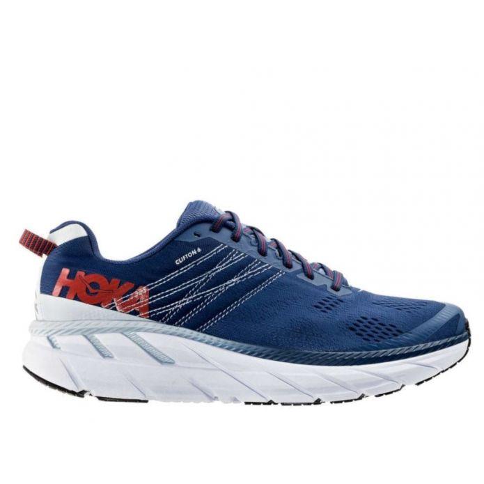 Оригинальные кроссовки Hoka Clifton 6 M Серо-Синие