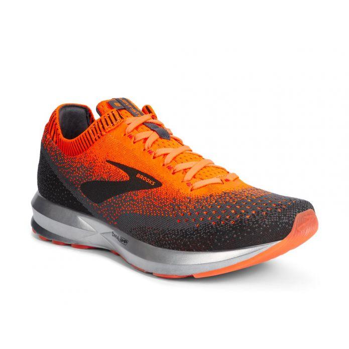 Оригинальные кроссовки Brooks Levitate 2 M Черно-Оранжевые