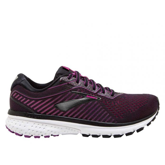 Оригинальные кроссовки Brooks Ghost 12 W Черно-Фиолетовые