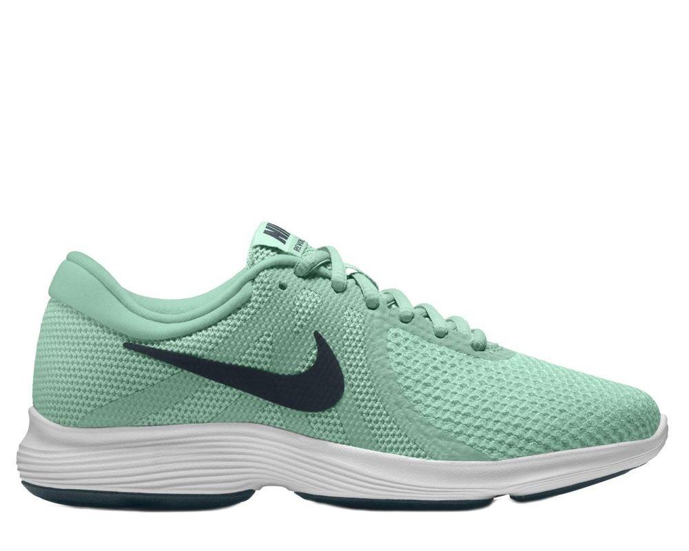 08d4ab48 Купить кроссовки для бега Nike Revolution 4 W Черно-Зеленые в Минске ...