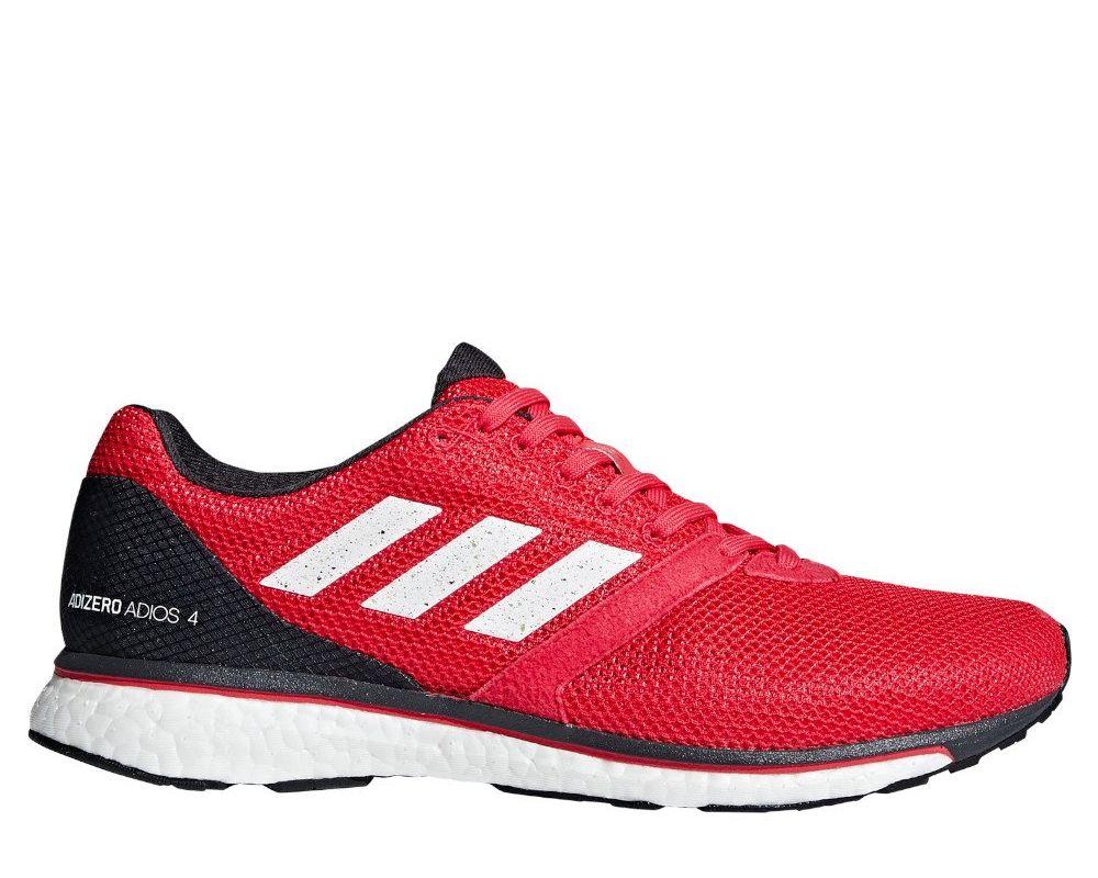 508b2819 Оригинальные кроссовки adidas Adizero Adios 4 Shoes M Черно-Малиновые