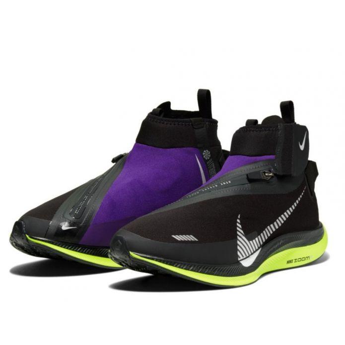 Оригинальные кроссовки ZOOM PEGASUS TURBO SHIELD M Черно-Фиолетовые