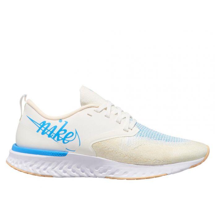 Оригинальные кроссовки Nike Odyssey React Flyknit 2 JDI W Голубо-Белые