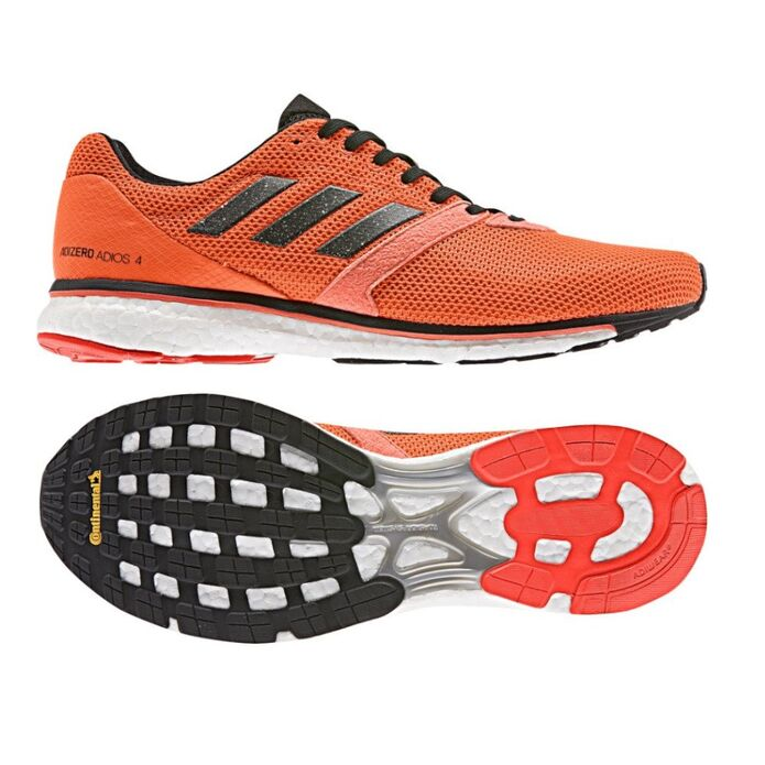 Оригинальные кроссовки adidas Adizero Adios 4 m Оранжевые