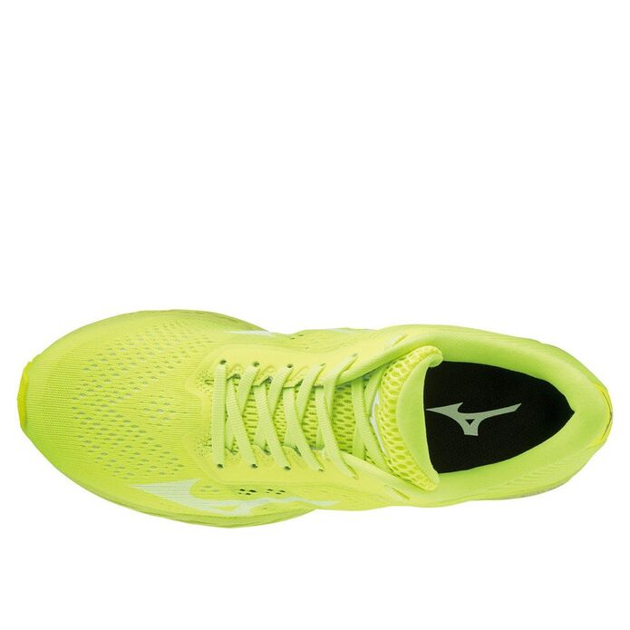 Оригинальные кроссовки Mizuno Wave Shadow 3 M Зелено-Желтые
