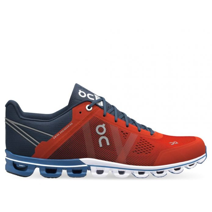Оригинальные кроссовки On Running Cloudflow M Navy-Красные