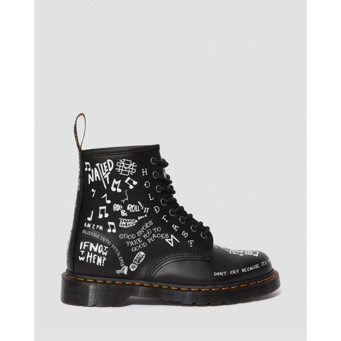 Оригинальные кроссовки Dr. Martens 1460 SCRIBBLE BLACK WHITE 25245009