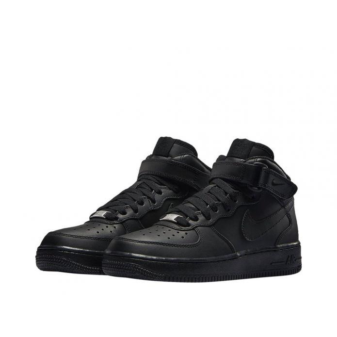 """Баскетбольные кроссовки Nike Air Force 1 Mid (GS) """"All Black"""" (314195-004)"""