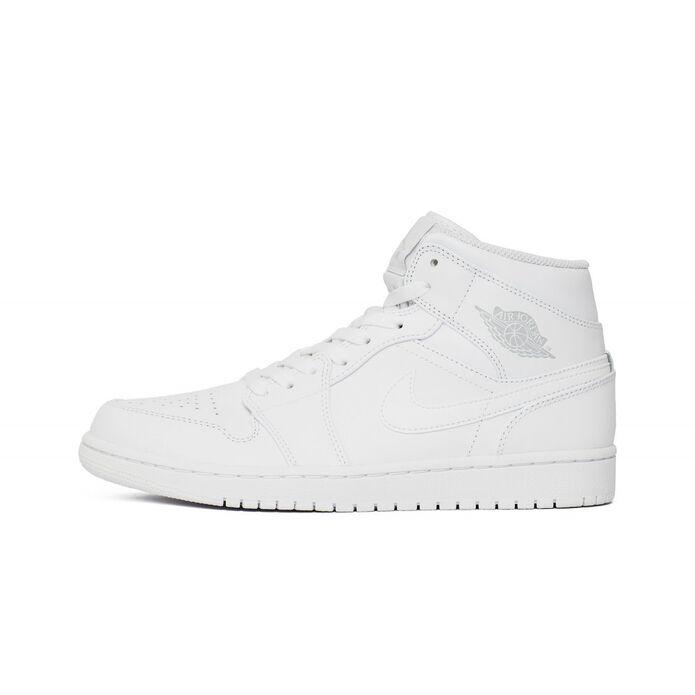 "Баскетбольные кроссовки Buty Air Jordan 1 Mid ""White"" (554724-104)"