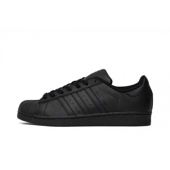 """Оригинальные кроссовки Adidas Superstar Foundation """"All Black"""""""