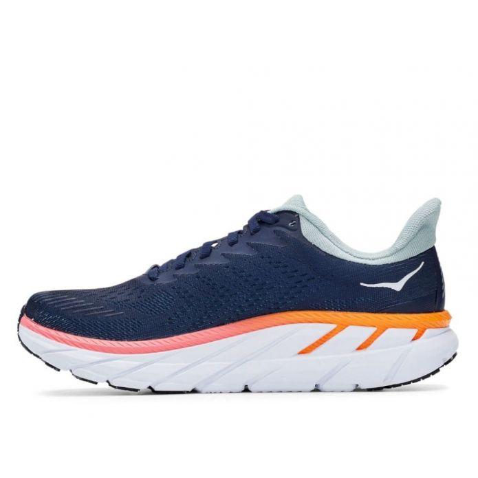 Оригинальные кроссовки Hoka Clifton 7 W Navy-Оранжевые