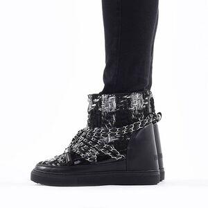 Inuikii Sneaker English Tarta Wedge 70203-53 BLACK