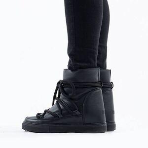 Inuikii Sneaker Full Leather Wedge 70203-89 BLACK