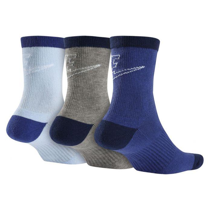 Nike 3ppk Sportswear Striped Low Crew Socks (SX6065-903)