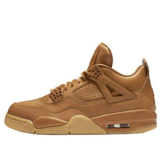 """Баскетбольные кроссовки Air Jordan 4 Retro Premium """"Wheat"""" (819139-205)"""