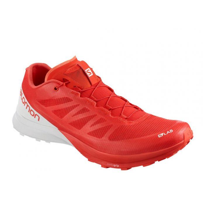 Оригинальные кроссовки Salomon S-Lab Sense 7 Racing M Бело-Красные