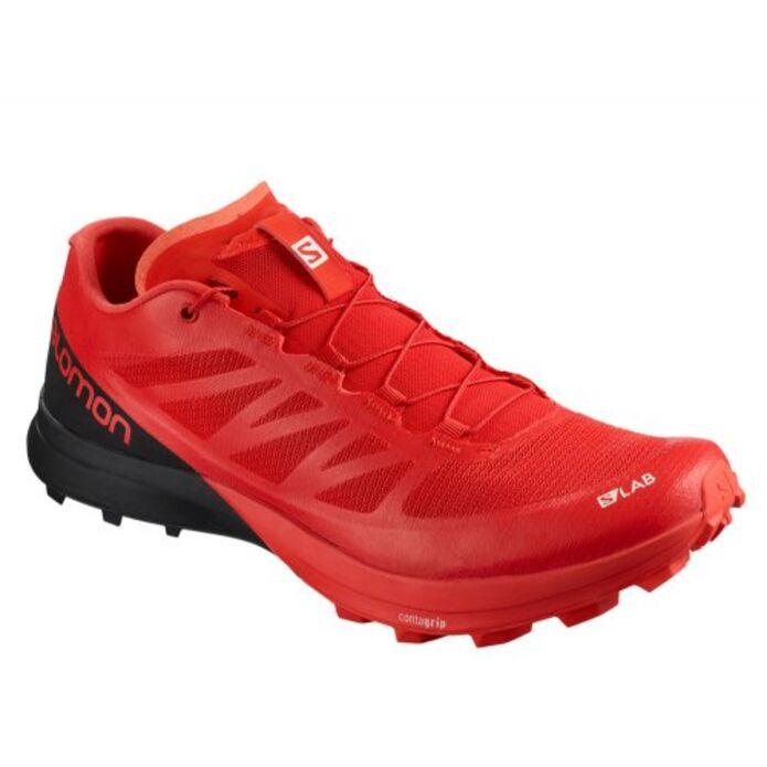 Оригинальные кроссовки Salomon S-Lab Sense 7 Racing M Черно-Красные