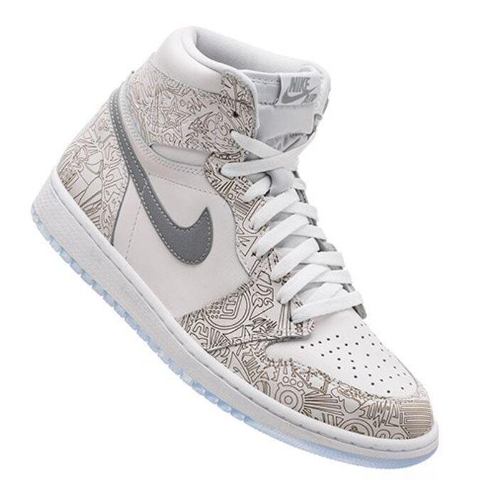 Баскетбольные кроссовки Air Jordan 1 Retro High OG Laser