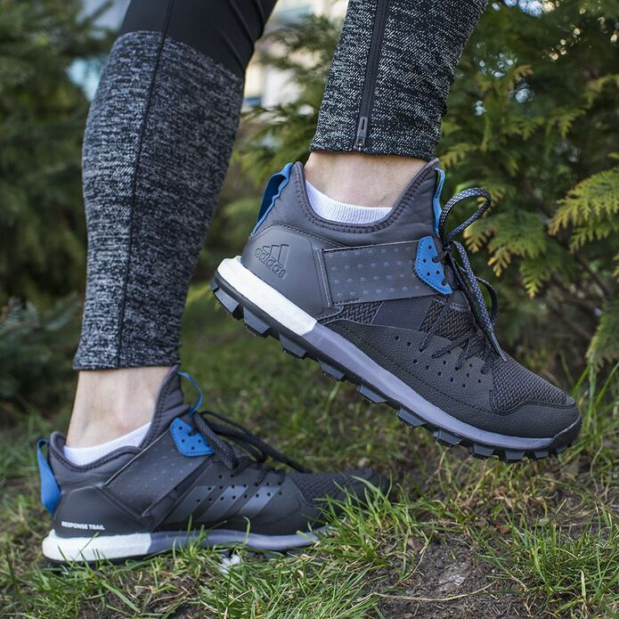Кроссовки для бега ADIDAS RESPONSE TRAIL BOOST Czarny