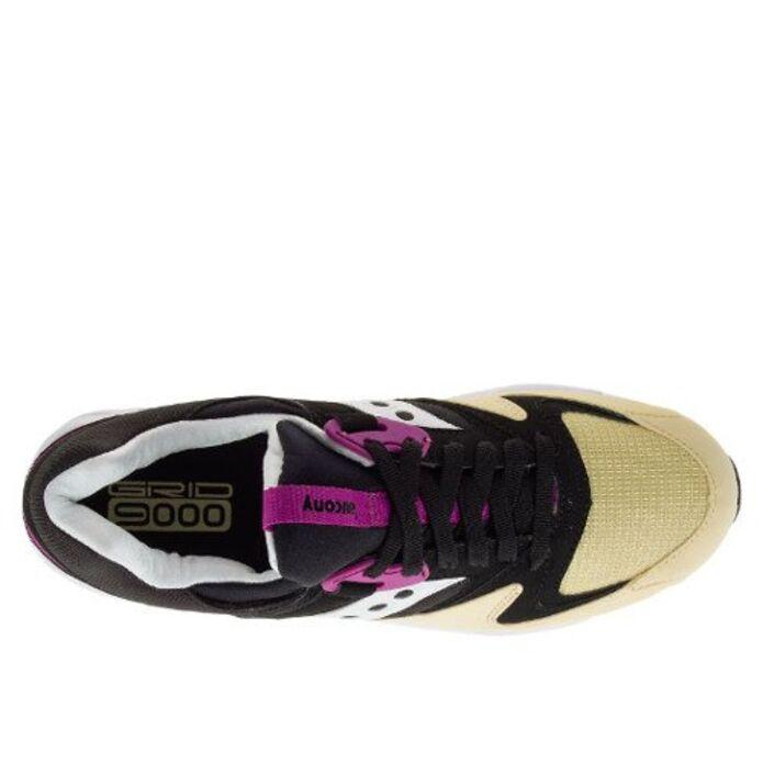 Оригинальные кроссовки Saucony Grid 9000 Black/Cream