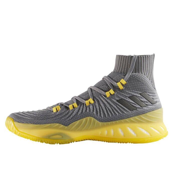 Баскетбольные кроссовки adidas Crazy Explosive 2017 Primeknit Light Grey/Solar Yellow