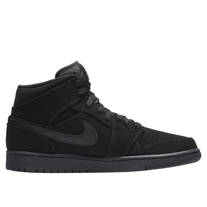 """Баскетбольные кроссовки Air Jordan 1 Mid """"Black"""" (554724-040)"""