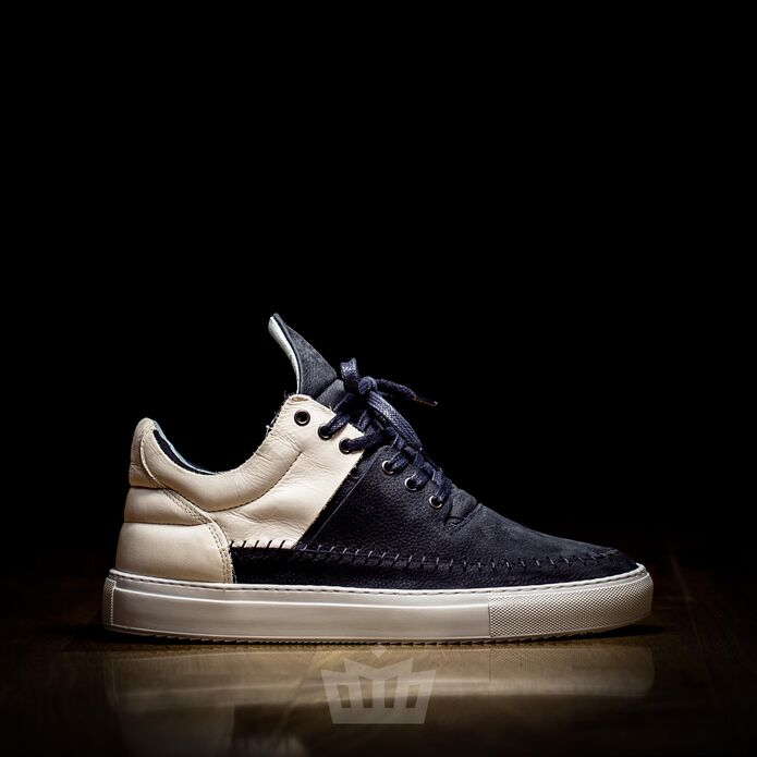 filling pieces low top doble creme navy