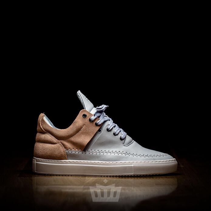 filling pieces Low Top Doble nude baby blue