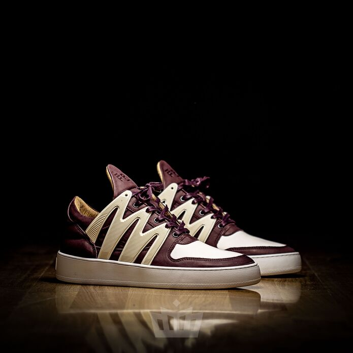 Filling Pieces low top embrace maroon