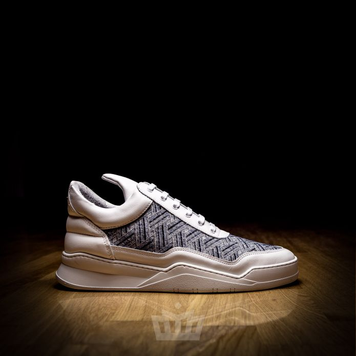 Filling Pieces Low Top Ghost Beluga White