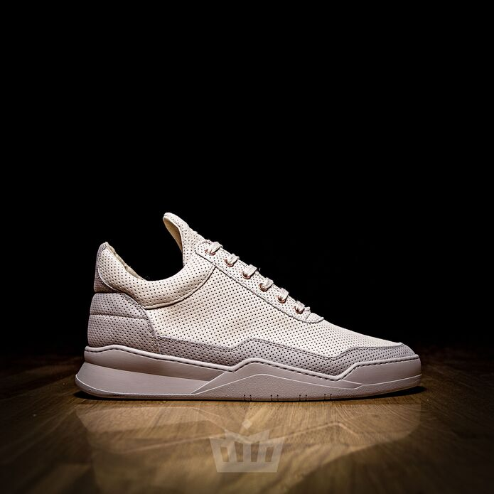 Filling Pieces Low Top Ghost Perforated grey