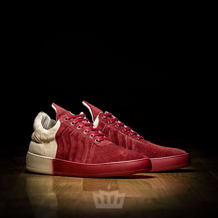 Filling Pieces low top Vertiwave Creme Red