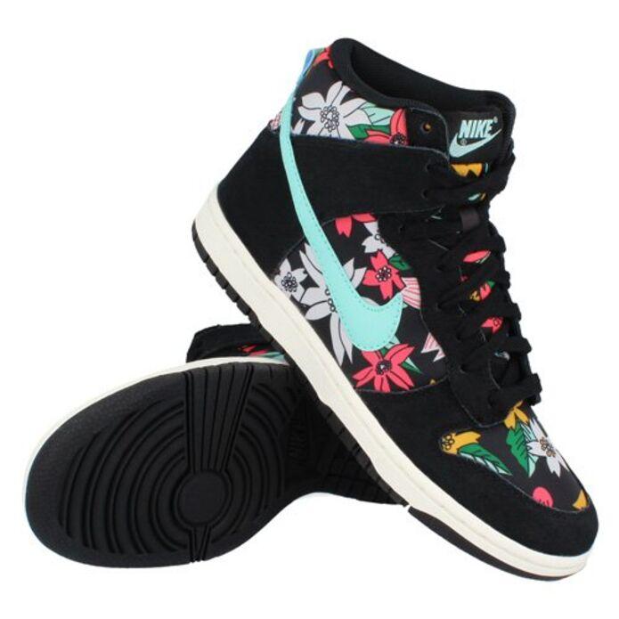 """Nike Wmns Dunk Hi Skinny Print """"Aloha Pack-Black"""""""