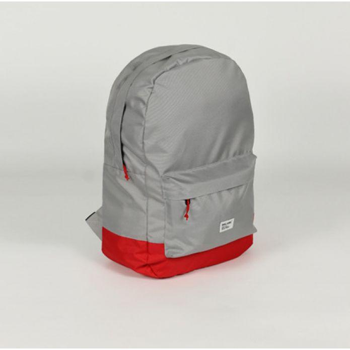 Рюкзак DISLABEL Street backpack light grey/red