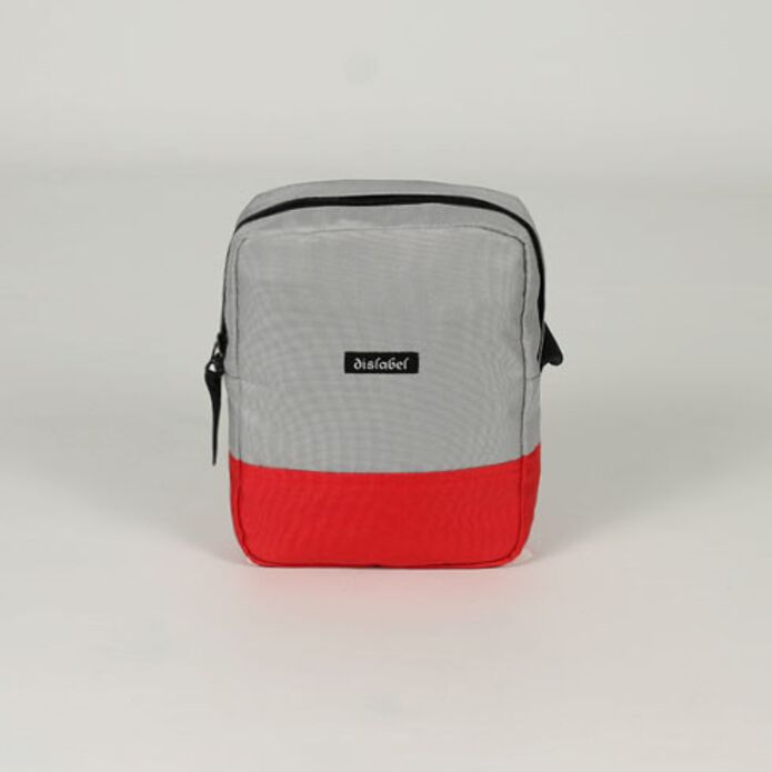 Сумка DISLABEL Flight Bag light grey/red